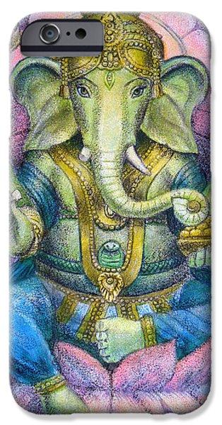 Lotus Ganesha iPhone Case by Sue Halstenberg