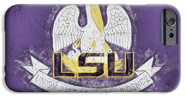 IPhone 6 Case featuring the digital art Louisiana Lsu State Flag by JC Findley