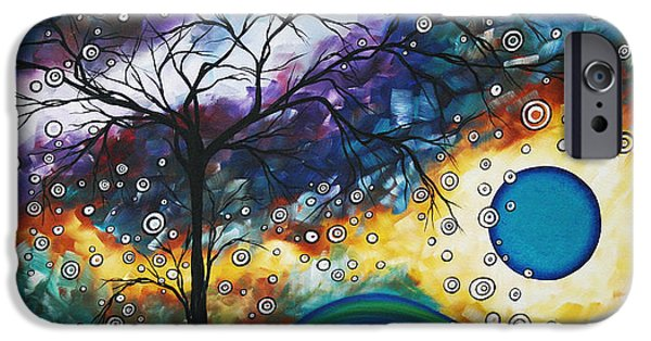 Home Paintings iPhone Cases - Love and Laughter by MADART iPhone Case by Megan Duncanson