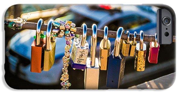 Law Enforcement iPhone Cases - Love Locks, New York City iPhone Case by Julie Waldner