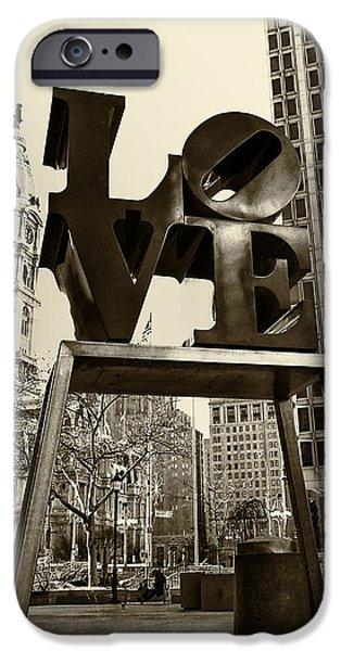 Love Photographs iPhone Cases - Love Philadelphia iPhone Case by Jack Paolini