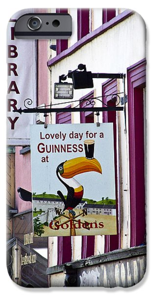 Irish Photographs iPhone Cases - Lovely Day for a Guinness Macroom Ireland iPhone Case by Teresa Mucha
