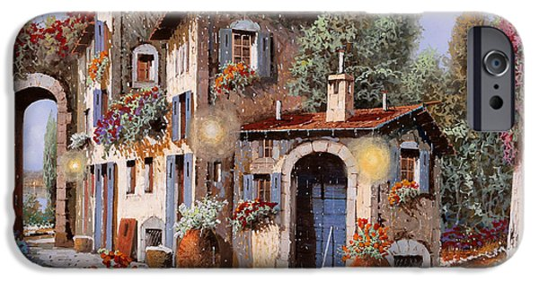 Village iPhone 6 Case - Luci All'entrata by Guido Borelli