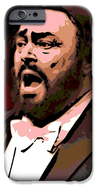 Operatic iPhone Cases - Luciano iPhone Case by George Pedro