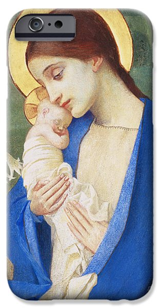 Religious iPhone Cases - Madonna and Child iPhone Case by Marianne Stokes
