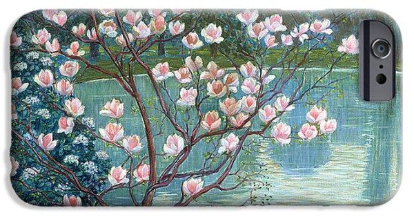 Magnolia iPhone Cases - Magnolia iPhone Case by Wilhelm List