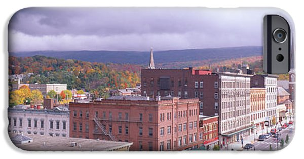 4th Of July iPhone Cases - Main Street Usa, North Adams iPhone Case by Panoramic Images