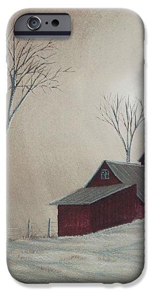 Majestic Winter Night iPhone Case by Charlotte Blanchard
