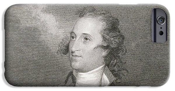 Patriots Drawings iPhone Cases - Major General Thomas Pinckney iPhone Case by John Trumbull