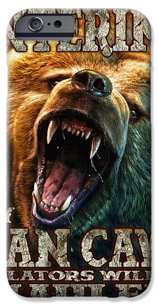Sign iPhone Cases - Man Cave iPhone Case by JQ Licensing
