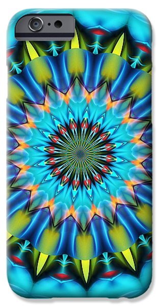 Recently Sold -  - Abstract Forms iPhone Cases - Mandala 111511 A iPhone Case by David Lane