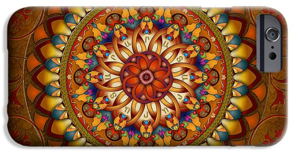 Bedros Mixed Media iPhone Cases - Mandala Ararat iPhone Case by Bedros Awak