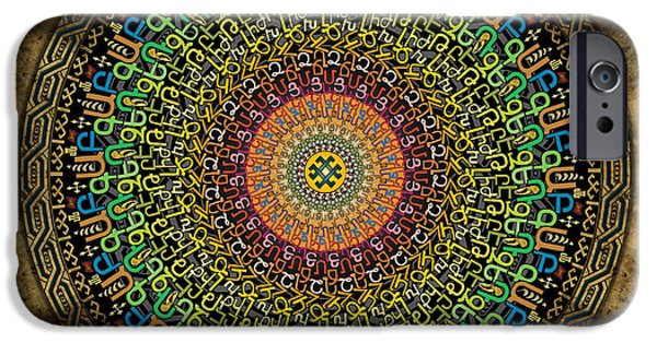Buddhism iPhone 6 Case - Mandala Armenian Alphabet by Peter Awax