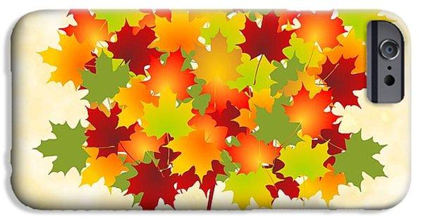 Red iPhone 6 Case - Maple Leaves by Anastasiya Malakhova