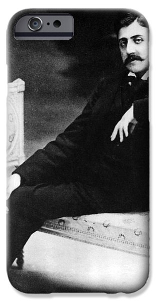 Personalities Photographs iPhone Cases - Marcel Proust, French Author iPhone Case by Omikron