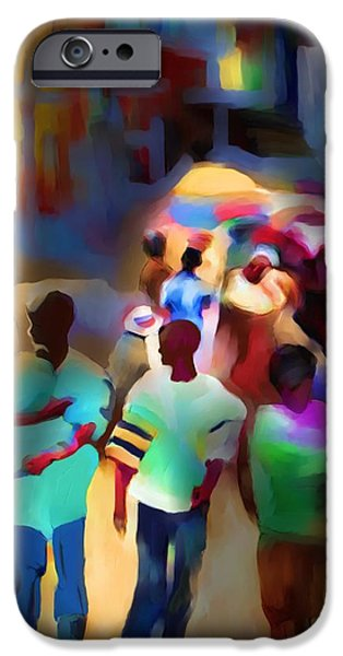 marketplace at night cap haitien iPhone Case by Bob Salo
