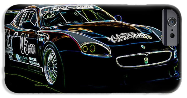 Historic Vehicle iPhone Cases - Maserati iPhone Case by Sebastian Musial