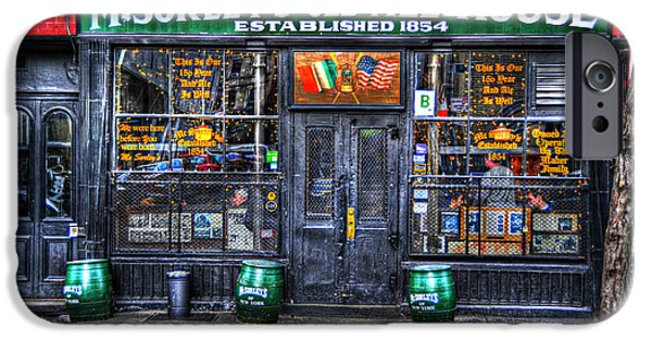 Recently Sold -  - East Village iPhone Cases - McSorleys  in Color iPhone Case by Randy Aveille