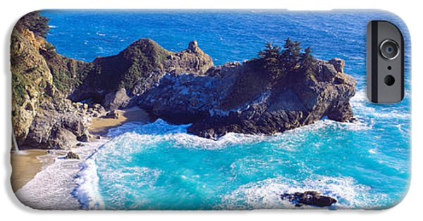 Big Sur Ca iPhone Cases - Mcway Falls, Mcway Cove, Julia Pfeiffer iPhone Case by Panoramic Images