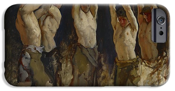 Ironwork iPhone 6 Case - Men At An Anvil, Study For The Spirit Of Vulcan by Edwin Austin Abbey