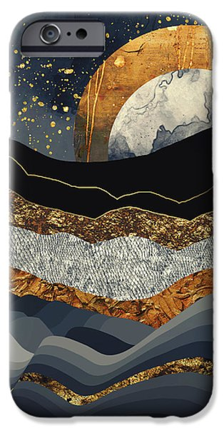 Landscapes iPhone 6 Case - Metallic Mountains by Katherine Smit