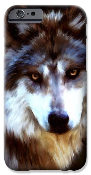 Bhymer iPhone Cases - Mexican Wolves iPhone Case by Barbara Hymer