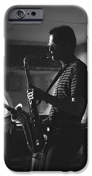 Band Photo iPhone Cases - MICHAEL BRECKER Kicking up iPhone Case by Philippe Taka