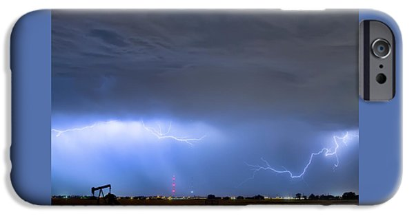 IPhone 6 Case featuring the photograph Michelangelo Lightning Strikes Oil by James BO Insogna