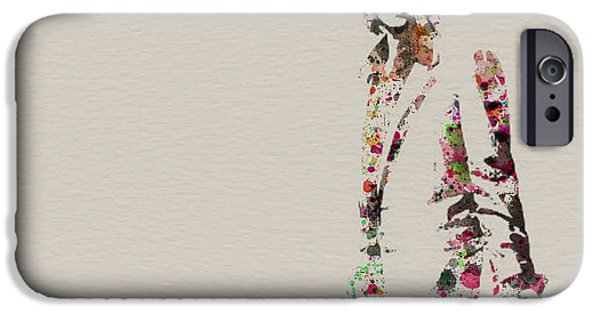 Band Paintings iPhone Cases - Mick Jagger watercolor iPhone Case by Naxart Studio