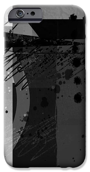 Ann Powell iPhone Cases - Midnight in the City 2 triptych iPhone Case by Ann Powell