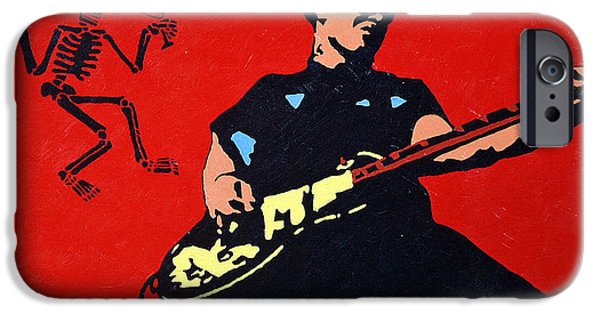 Distortion iPhone Cases - Mike Ness iPhone Case by Steven Sloan