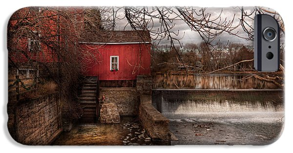 Old Mill Scenes iPhone Cases - Mill - Clinton NJ - The mill and wheel iPhone Case by Mike Savad
