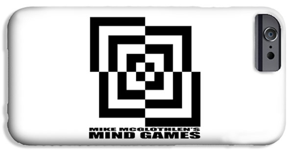 Circles Drawings iPhone Cases - Mind Games 10SE iPhone Case by Mike McGlothlen