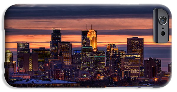 St Photographs iPhone Cases - Minneapolis Skyline iPhone Case by Shawn Everhart