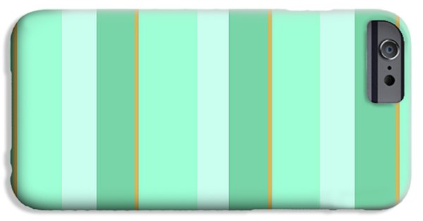 IPhone 6 Case featuring the mixed media Mint Green Stripe Pattern by Christina Rollo