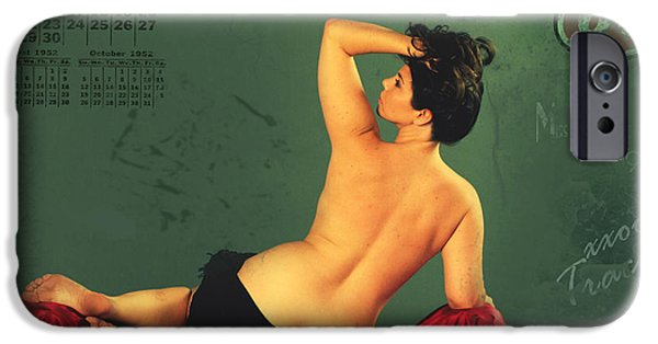Pin-up iPhone Cases - Miss September circa 1952 iPhone Case by Cinema Photography