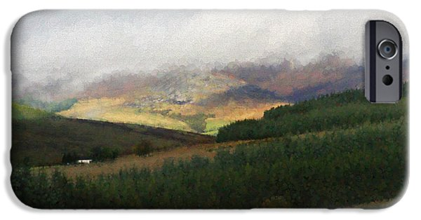 Fog Mist iPhone Cases - Mist On The Hills iPhone Case by Diane Macdonald