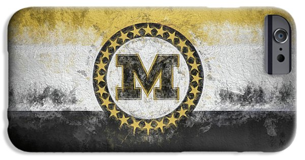 IPhone 6 Case featuring the digital art Mizzou State Flag by JC Findley