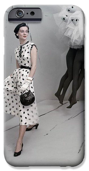 Ball Gown Photographs iPhone Cases - Model Standing In Set By Verts Wearing iPhone Case by Conde Nast
