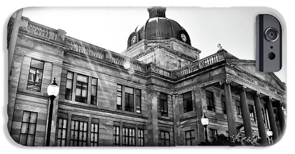 Montgomery iPhone Cases - Montgomery County Court House - Norristown Pa. iPhone Case by Bill Cannon