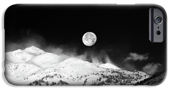 Moon Over The Alps IPhone 6 Case by Silvia Ganora