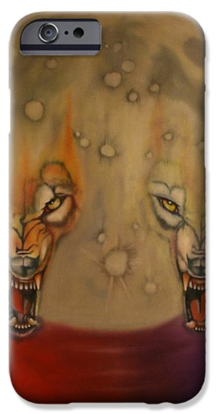 Archetype Paintings iPhone Cases - Moon iPhone Case by Roger Williamson