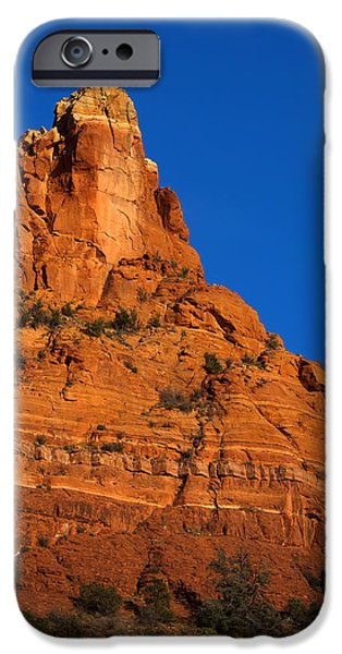 Sedona Arizona iPhone Cases - Moonrise over Red Rock iPhone Case by Mike  Dawson