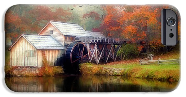 Grist Mill iPhone Cases - Morning at the Mill iPhone Case by Darren Fisher