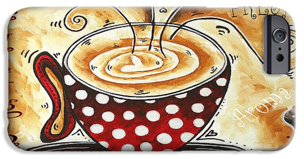 Buying Online Digital iPhone Cases - Morning Delight Original Painting MADART iPhone Case by Megan Duncanson