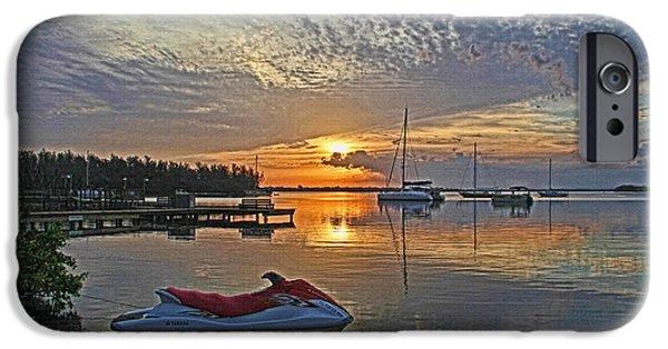 Jet Ski iPhone 6 Case - Morning Peace - Florida Sunrise by HH Photography of Florida