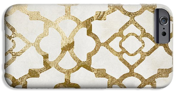 Pattern iPhone 6 Case - Moroccan Gold I by Mindy Sommers