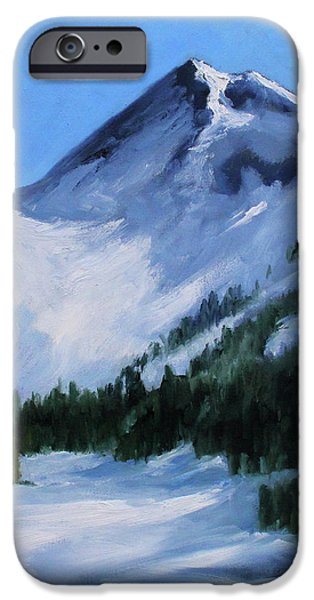 IPhone 6 Case featuring the painting Mount Baker Glacier by Nancy Merkle