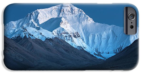 Mount Everest At Blue Hour, Rongbuk, 2007 IPhone 6 Case by Hitendra SINKAR