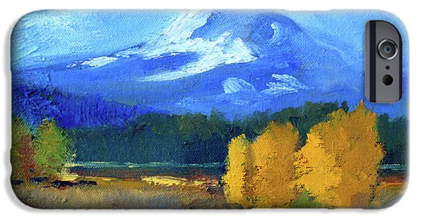IPhone 6 Case featuring the painting Mount Hood by Nancy Merkle